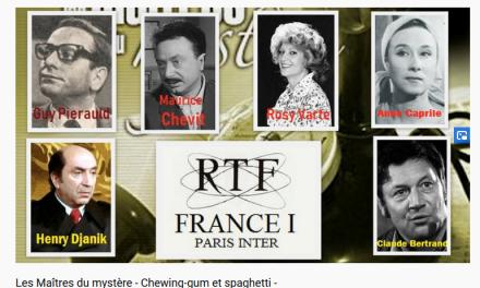 Théatre Radiophonique – Les Maîtres du mystère : Chewing-gum et spaghetti