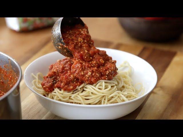VIDEO:Sauce à Spaghetti Végé (La Cuisine de Jean-Philippe)